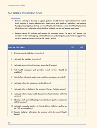 PAC Policy Assessment Tool Thumbnail